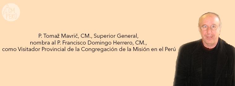 ELECCIÓN DEL VISITADOR PROVINCIA DE PERÚ